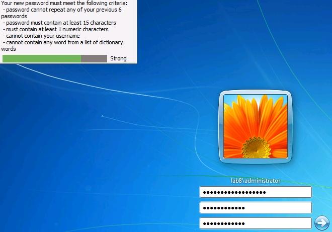 how to set password windows 7