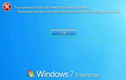 how to reset a password on windows 7 enterprise